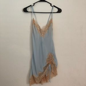 VICTORIA'sSECRET gold slip dress